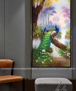 tranh chim cong 120 247x296 - Tranh Chim Công - LCC0150