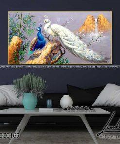 tranh chim cong 126 247x296 - Tranh Chim Công - LCC0165