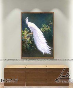 tranh chim cong 135 247x296 - Tranh Chim Công - LCC0177