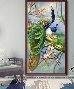 tranh chim cong 150 247x296 - Tranh Chim Công - LCC0194