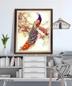 tranh chim cong 162 247x296 - Tranh Chim Công - LCC0209