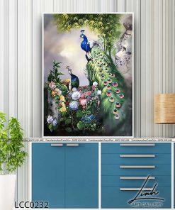 tranh chim cong 179 247x296 - Tranh Chim Công - LCC0232