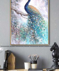 tranh chim cong 181 247x296 - Tranh Chim Công - LCC0235