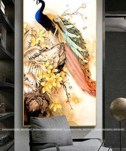 tranh chim cong 183 247x296 - Tranh Chim Công - LCC0237