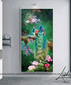 tranh chim cong 194 247x296 - Tranh Chim Công - LCC0257