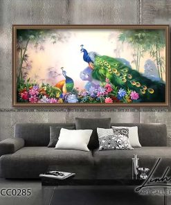 tranh chim cong 213 247x296 - Tranh Chim Công - LCC0285