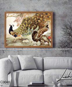tranh chim cong 44 247x296 - Tranh Chim Công - LCC0048