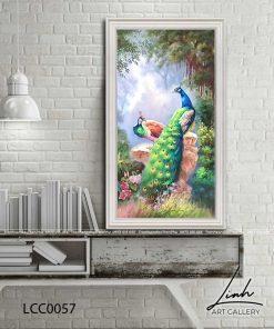 tranh chim cong 53 247x296 - Tranh Chim Công - LCC0057