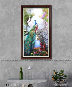 tranh chim cong 55 247x296 - Tranh Chim Công - LCC0059