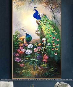 tranh chim cong 84 247x296 - Tranh Chim Công - LCC0099