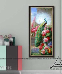 tranh chim cong hoa mau don 15 247x296 - Tranh Chim Công Hoa Mẫu Đơn - LCC0106