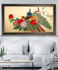 tranh chim cong hoa mau don 30 247x296 - Tranh Chim Công Hoa Mẫu Đơn - LCC0156