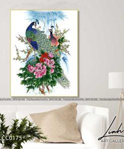 tranh chim cong hoa mau don 36 247x296 - Tranh Chim Công Hoa Mẫu Đơn - LCC0175
