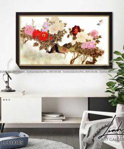 tranh chim cong hoa mau don 4 247x296 - Tranh Chim Công Hoa Mẫu Đơn - LCC0045