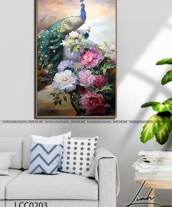 tranh chim cong hoa mau don 40 247x296 - Tranh Chim Công Hoa Mẫu Đơn - LCC0203