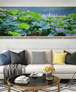 tranh ho sen 1 247x296 - Tranh Hồ Sen - OHO0704