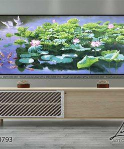 tranh ho sen 3 247x296 - Tranh Hồ Sen - OHO0793