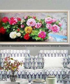 tranh hoa mau don 54 247x296 - Tranh Hoa Mẫu Đơn - OHO0826