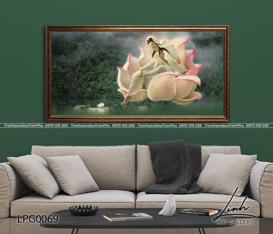 tranh phat 1 932x800 - Tranh Bồ Tát Thiên Thủ Thiên Nhãn - LPG0133