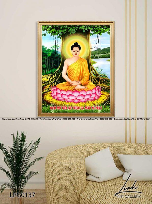 tranh phat 2 598x800 - Tranh Bồ Tát Thiên Thủ Thiên Nhãn - LPG0133