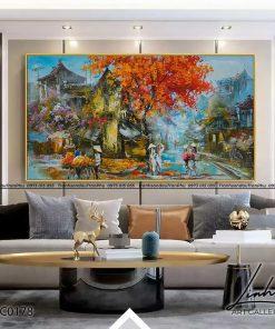 tranh pho co ha noi 153 247x296 - Tranh Phố Cổ Hà Nội - LPC0178