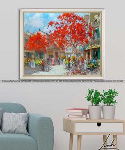 tranh pho co ha noi 2 247x296 - Tranh Phố Cổ Hà Nội - LPC0003