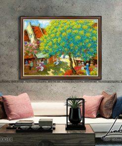 tranh pho co ha noi 25 247x296 - Tranh Phố Cổ Hà Nội - LPC0034
