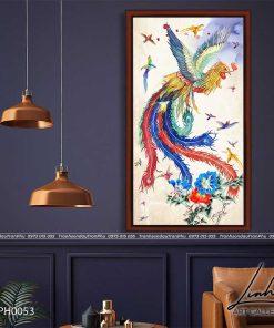 tranh bach dieu trieu phung 4 247x296 - Tranh Bách Điểu Triều Phụng - LPH0037