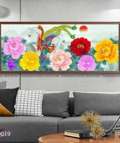 tranh phuong hoang hoa mau don 11 247x296 - Tranh Phượng Hoàng Hoa Mẫu Đơn - LPH0019