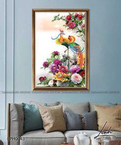 tranh phuong hoang hoa mau don 21 247x296 - Tranh Phượng Hoàng Hoa Mẫu Đơn - LPH0043