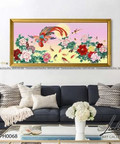 tranh phuong hoang hoa mau don 30 247x296 - Tranh Phượng Hoàng Hoa Mẫu Đơn - LPH0068
