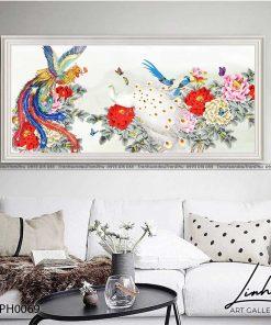 tranh phuong hoang hoa mau don 31 247x296 - Tranh Phượng Hoàng Hoa Mẫu Đơn - LPH0069