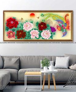 tranh phuong hoang hoa mau don 37 247x296 - Tranh Phượng Hoàng Hoa Mẫu Đơn - LPH0076