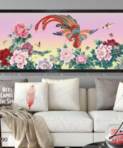 tranh phuong hoang hoa mau don 42 247x296 - Tranh Phượng Hoàng Hoa Mẫu Đơn - LPH0090