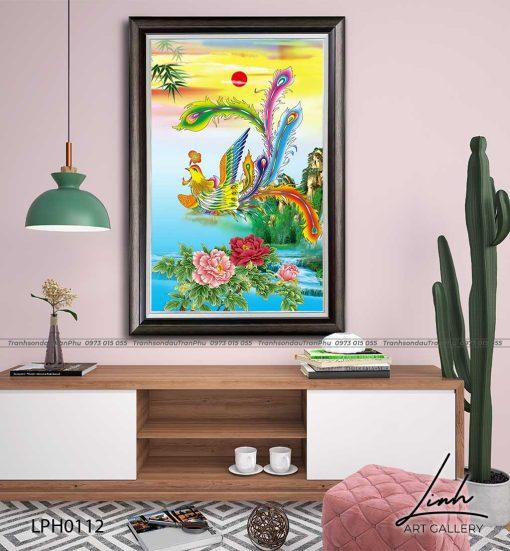 tranh phuong hoang hoa mau don 48 510x551 - Tranh Phượng Hoàng Hoa Mẫu Đơn - LPH0112