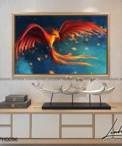 tranh phuong hoang lua 14 247x296 - Tranh Phượng Hoàng Lửa - LPH0096