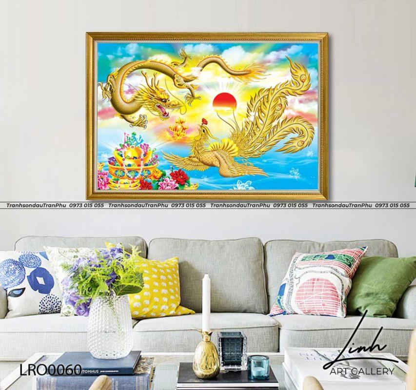 tranh rong 4 853x800 - Tranh Phượng Hoàng Hoa Mẫu Đơn - LPH0112