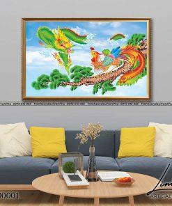 tranh rong phuong 1 247x296 - Tranh Rồng Phượng - LRO0001