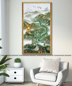 tranh rong xanh hi thuy 2 247x296 - Tranh Rồng Xanh Hí Thuỷ - LRO0005