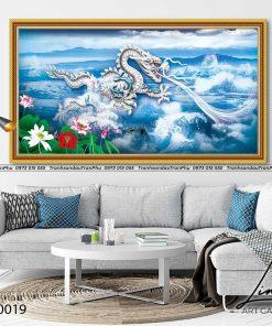 tranh rong xanh hi thuy 3 247x296 - Tranh Rồng Xanh Hí Thuỷ - LRO0019