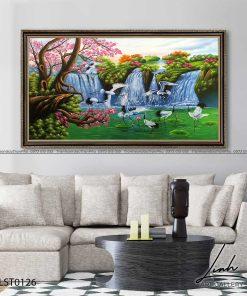 tranh son thuy 125 247x296 - Tranh Sơn Thuỷ - LST0126