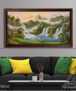 tranh son thuy 136 247x296 - Tranh Sơn Thuỷ - LST0137