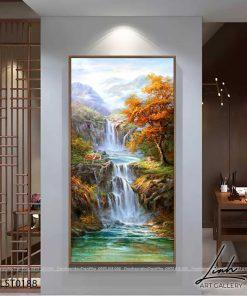 tranh son thuy 187 247x296 - Tranh Sơn Thuỷ - LST0188