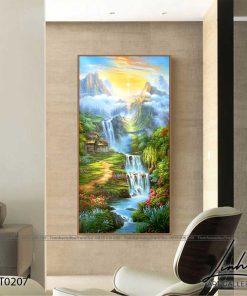 tranh son thuy 206 247x296 - Tranh Sơn Thuỷ - LST0207