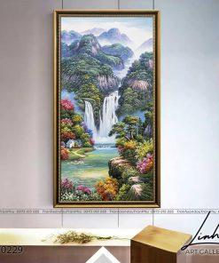 tranh son thuy 228 247x296 - Tranh Sơn Thuỷ - LST0229