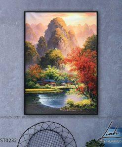 tranh son thuy 231 247x296 - Tranh Sơn Thuỷ - LST0232