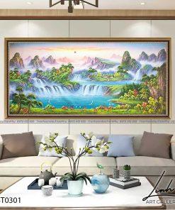 tranh son thuy 299 247x296 - Tranh Sơn Thuỷ - LST0301
