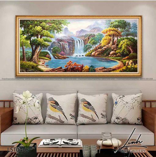 tranh son thuy 403 510x513 - Tranh Sơn Thuỷ - LST0405