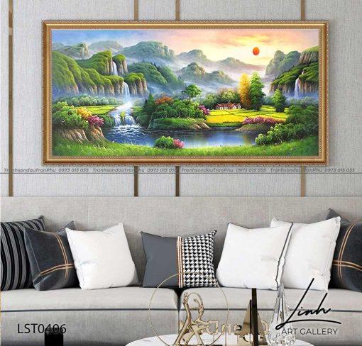 tranh son thuy 404 510x488 - Tranh Sơn Thuỷ - LST0406