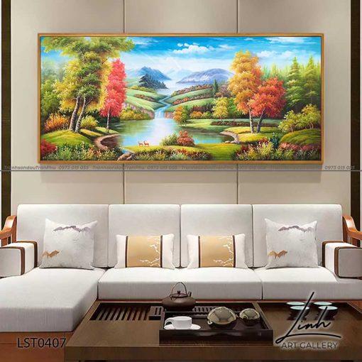 tranh son thuy 405 510x510 - Tranh Sơn Thuỷ - LST0407